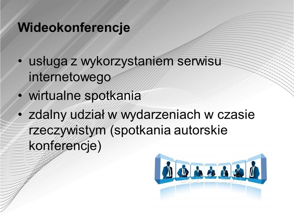 Wideokonferencje usługa z wykorzystaniem serwisu internetowego wirtualne spotkania zdalny udział w wydarzeniach w czasie rzeczywistym (spotkania autor