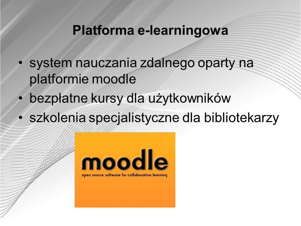 Platforma e-learningowa system nauczania zdalnego oparty na platformie moodle bezpłatne kursy dla użytkowników szkolenia specjalistyczne dla bibliotek