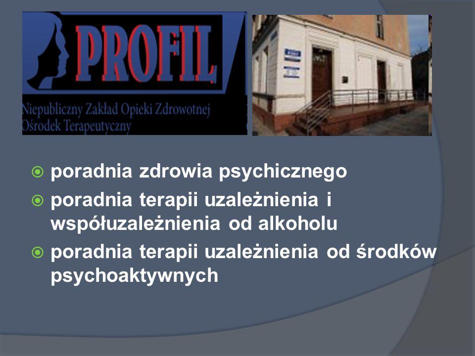 poradnia zdrowia psychicznego poradnia terapii uzależnienia i współuzależnienia od alkoholu poradnia terapii uzależnienia od środków psychoaktywnych