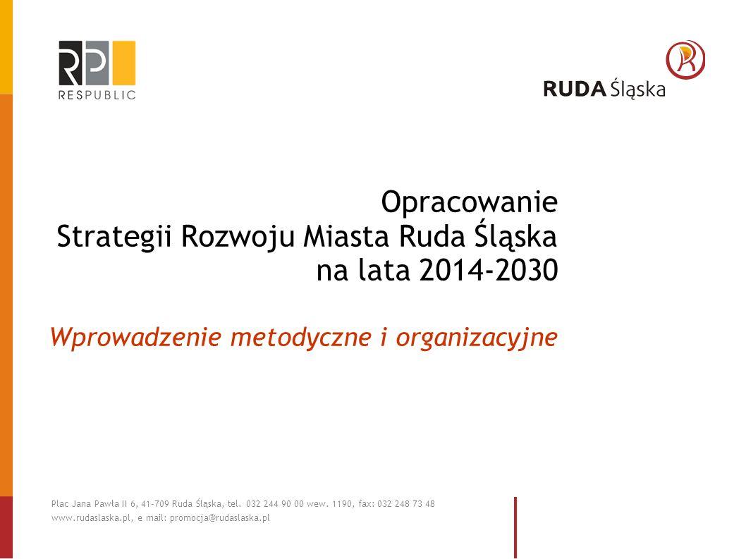 Opracowanie Strategii Rozwoju Miasta Ruda Śląska na lata 2014-2030 Wprowadzenie metodyczne i organizacyjne Plac Jana Pawła II 6, 41-709 Ruda Śląska, t