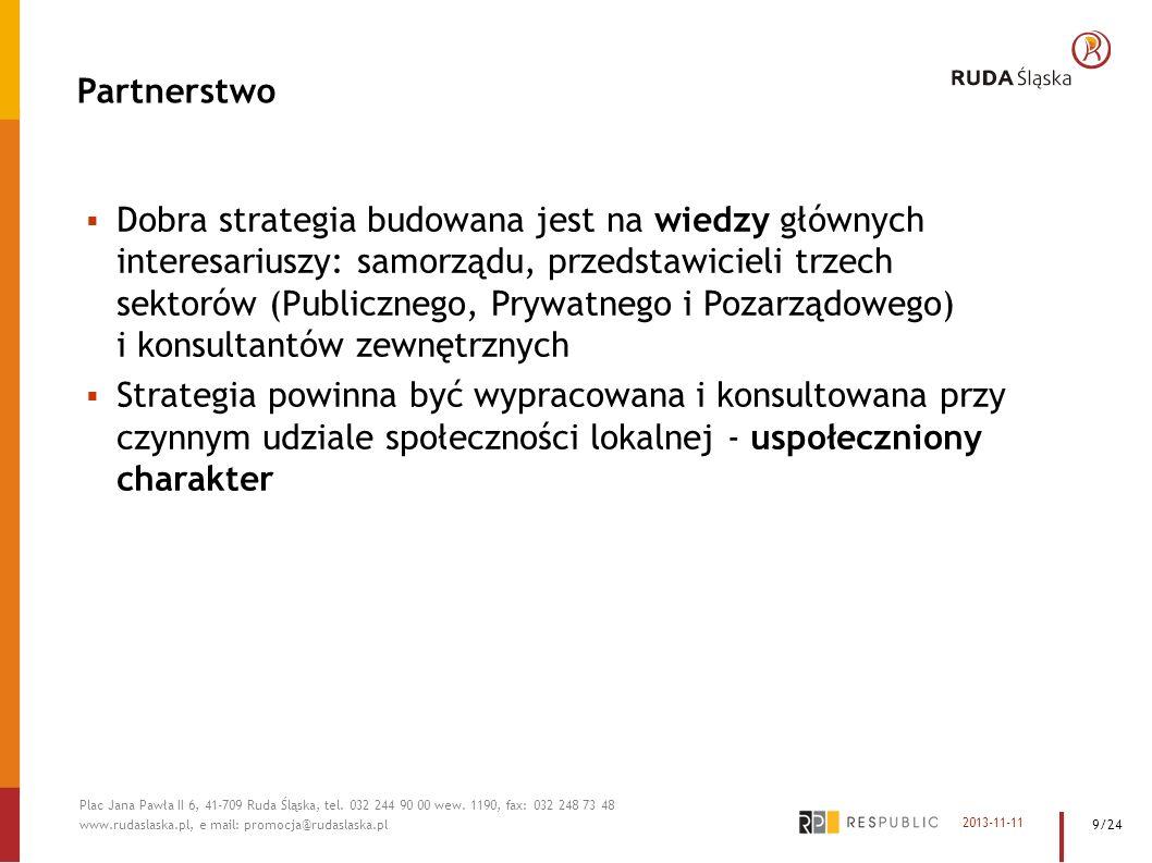 Partnerstwo Dobra strategia budowana jest na wiedzy głównych interesariuszy: samorządu, przedstawicieli trzech sektorów (Publicznego, Prywatnego i Poz