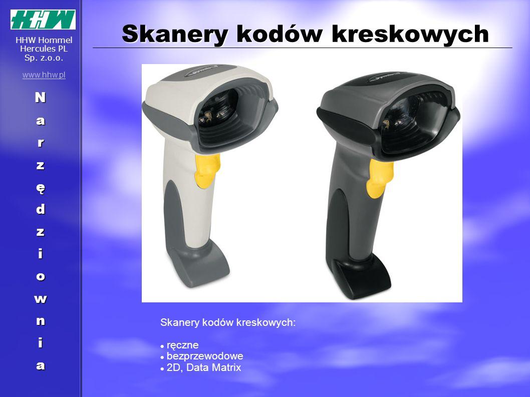 Skanery kodów kreskowych Skanery kodów kreskowych: ręczne bezprzewodowe 2D, Data Matrix Narzędziownia HHW Hommel Hercules PL Sp. z.o.o. www.hhw.pl