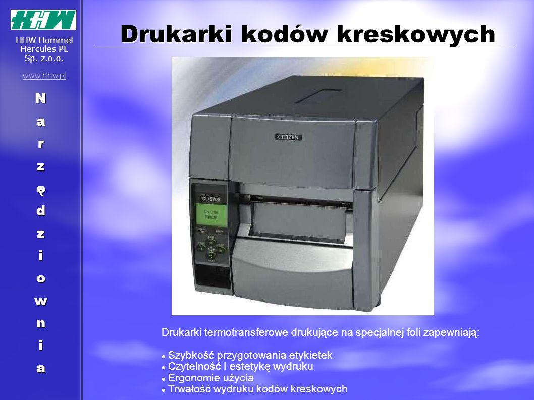 Drukarki kodów kreskowych Drukarki termotransferowe drukujące na specjalnej foli zapewniają: Szybkość przygotowania etykietek Czytelność I estetykę wy