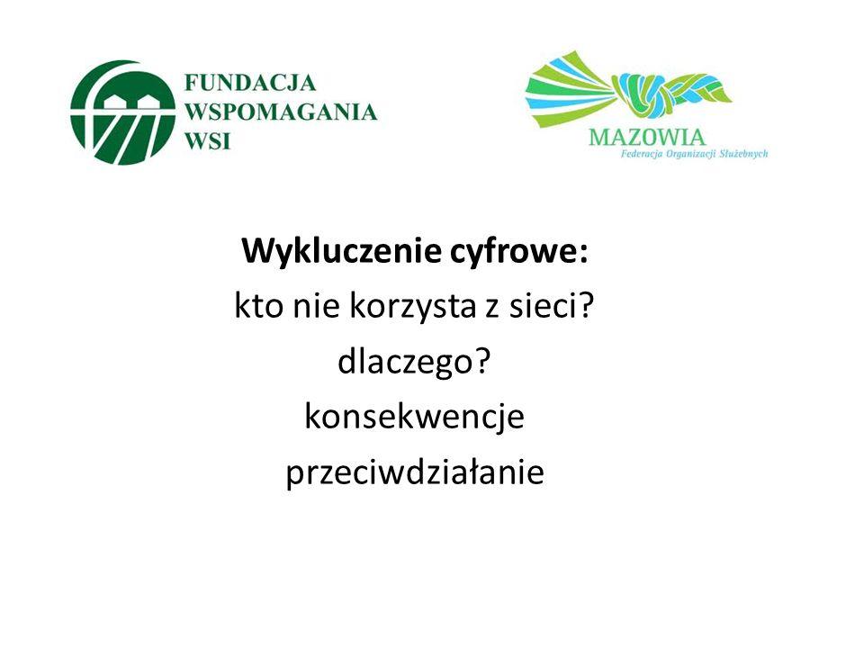 Kontakt: Magdalena Gromek Fundacja Wspomagania Wsi www.internetnawsi.pl www.witrynawiejska.org.pl www.fww.org.pl mgromek@fww.org.pl Paulina Sobieszuk Federacja MAZOWIA p.sobieszuk@mazowia.org.pl