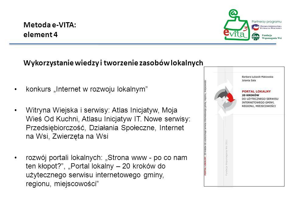 konkurs Internet w rozwoju lokalnym Witryna Wiejska i serwisy: Atlas Inicjatyw, Moja Wieś Od Kuchni, Atlasu Inicjatyw IT. Nowe serwisy: Przedsiębiorcz