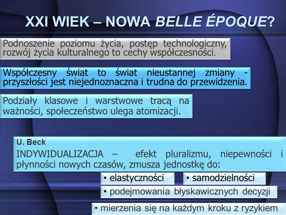 XXI WIEK – NOWA BELLE ÉPOQUE. U.