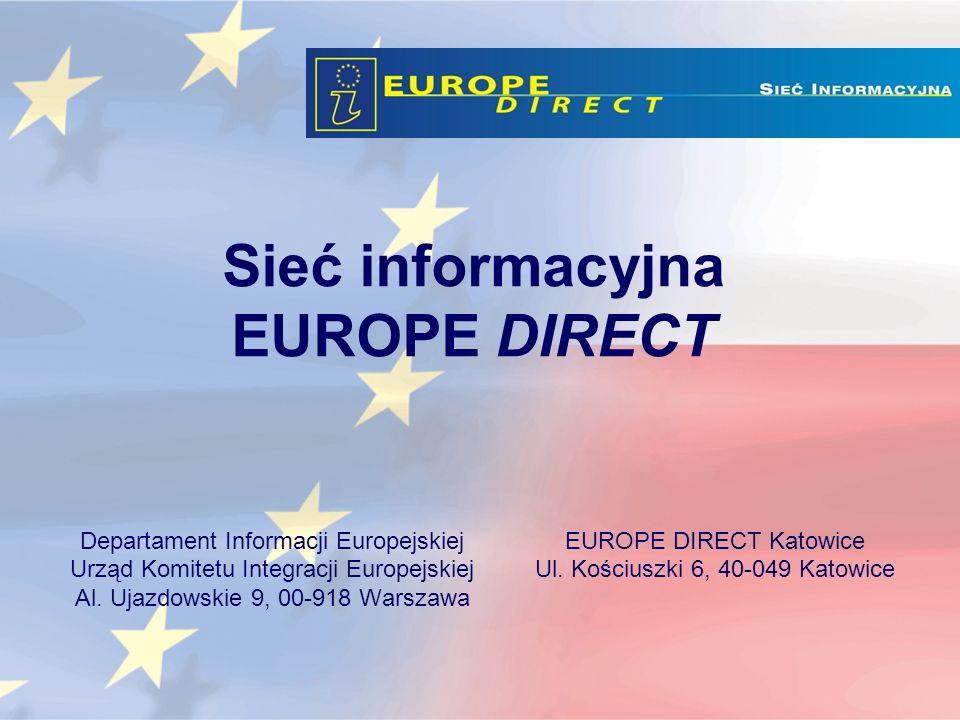 Sieć informacyjna EUROPE DIRECT Departament Informacji Europejskiej Urząd Komitetu Integracji Europejskiej Al.
