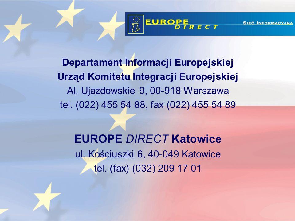 Departament Informacji Europejskiej Urząd Komitetu Integracji Europejskiej Al.