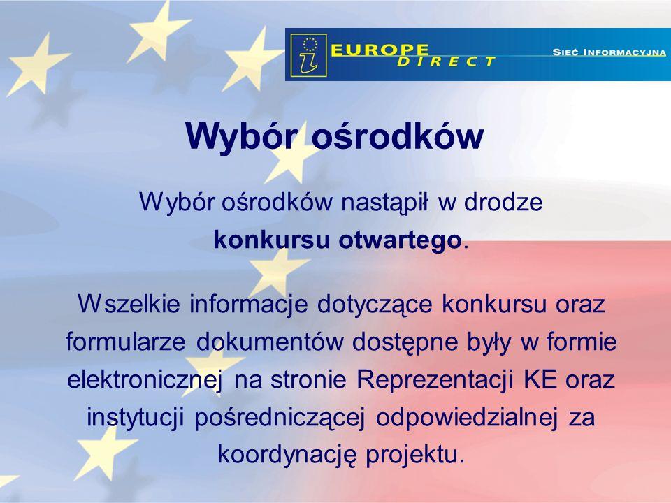 Sieć EUROPE DIRECT obejmuje 19 punktów informacyjnych na terenie Polski.