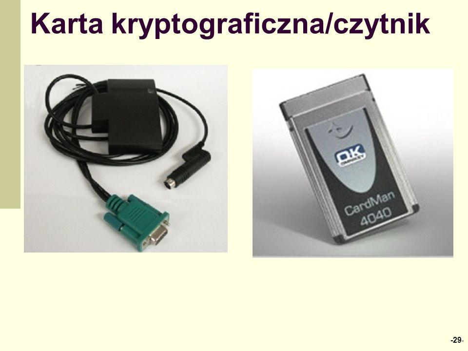 Karta kryptograficzna/czytnik -29 -