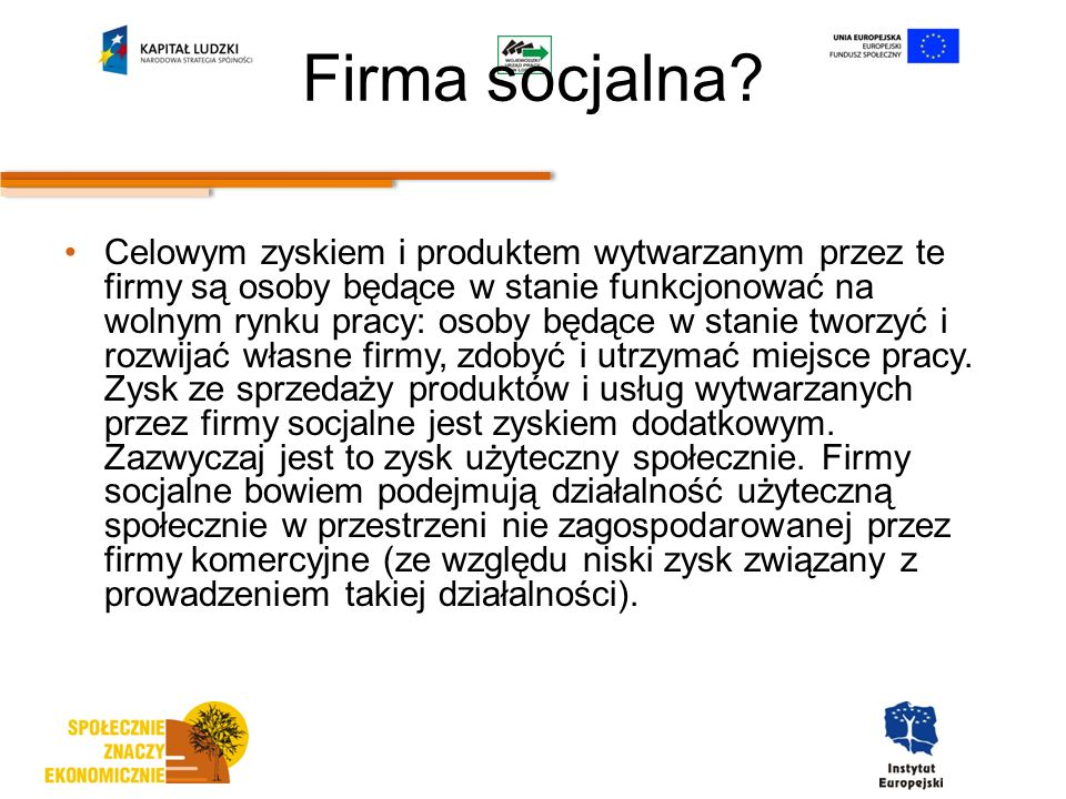 Firma socjalna.