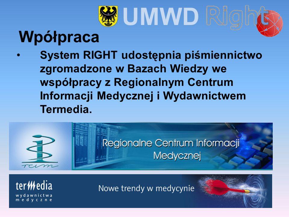 System RIGHT udostępnia piśmiennictwo zgromadzone w Bazach Wiedzy we współpracy z Regionalnym Centrum Informacji Medycznej i Wydawnictwem Termedia. Wp