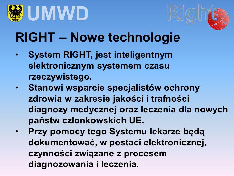 System RIGHT, jest inteligentnym elektronicznym systemem czasu rzeczywistego. Stanowi wsparcie specjalistów ochrony zdrowia w zakresie jakości i trafn