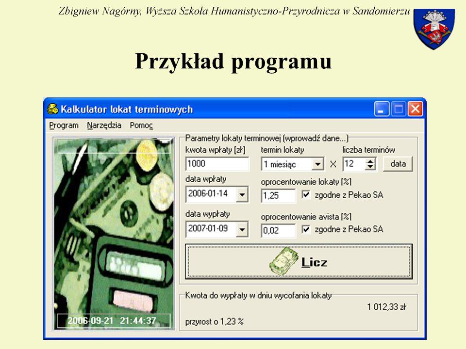 23 Przykład programu