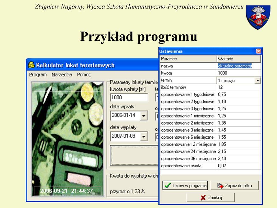 24 Przykład programu