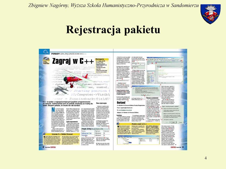 4 Rejestracja pakietu