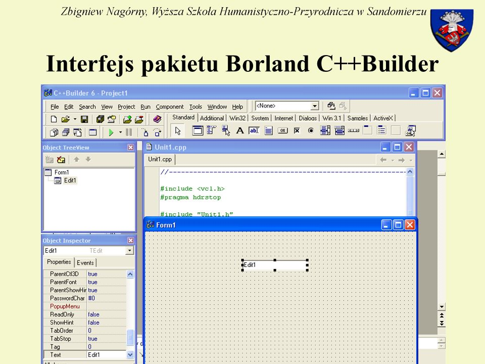 5 Interfejs pakietu Borland C++Builder