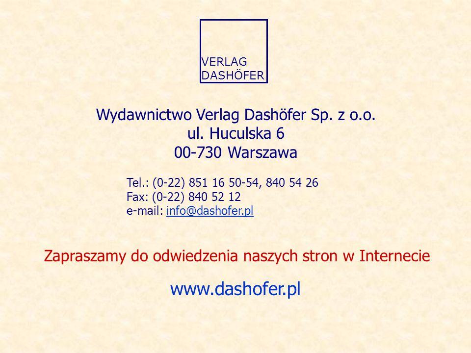 Wydawnictwo Verlag Dashöfer Sp.z o.o. ul.