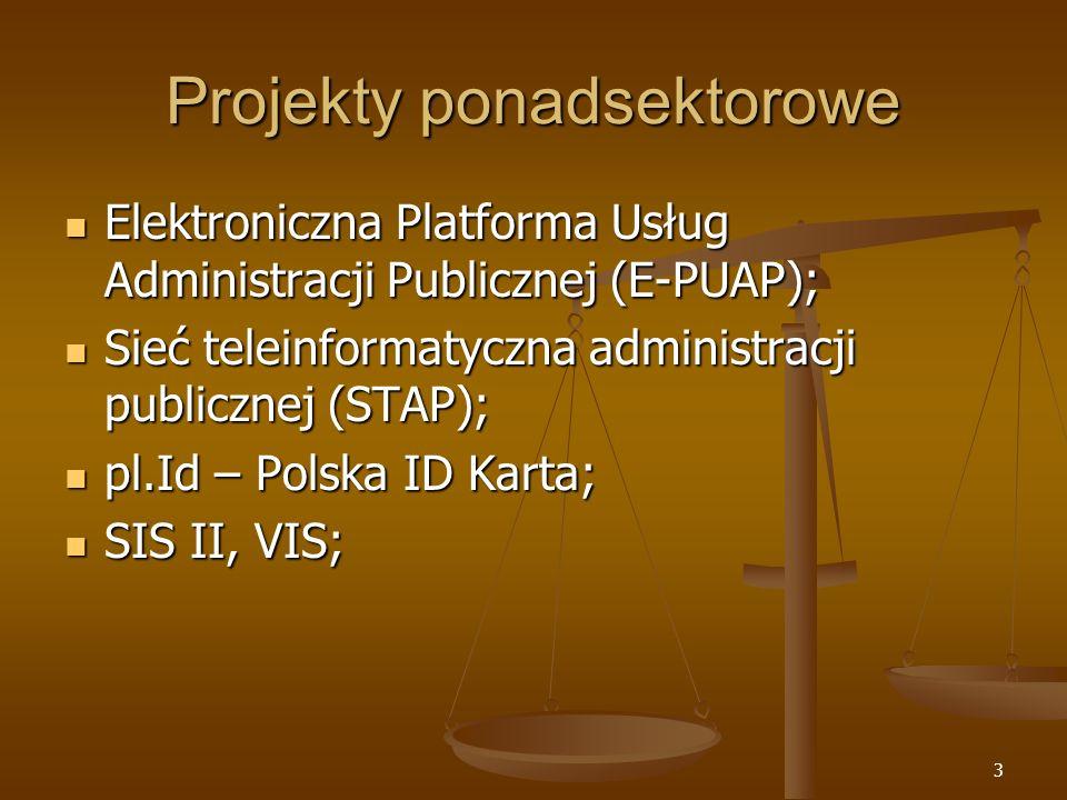 3 Projekty ponadsektorowe Elektroniczna Platforma Usług Administracji Publicznej (E-PUAP); Elektroniczna Platforma Usług Administracji Publicznej (E-P