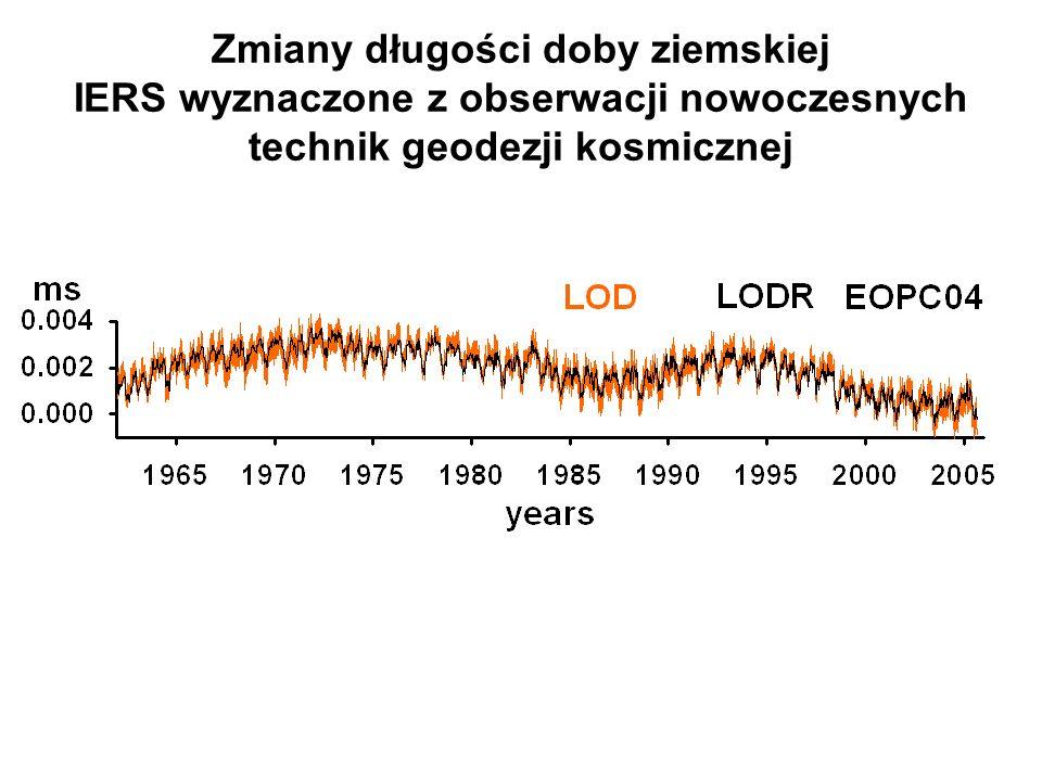 Zmiany długości doby ziemskiej IERS wyznaczone z obserwacji nowoczesnych technik geodezji kosmicznej