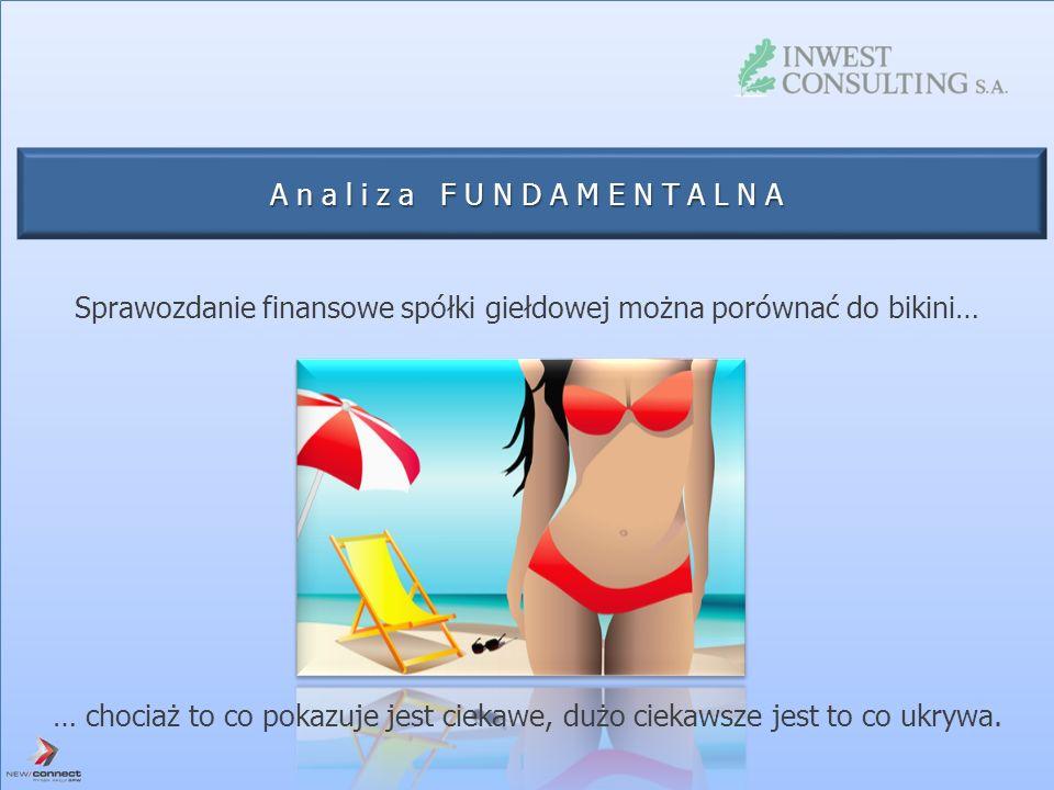 Analiza FUNDAMENTALNA Sprawozdanie finansowe spółki giełdowej można porównać do bikini… … chociaż to co pokazuje jest ciekawe, dużo ciekawsze jest to