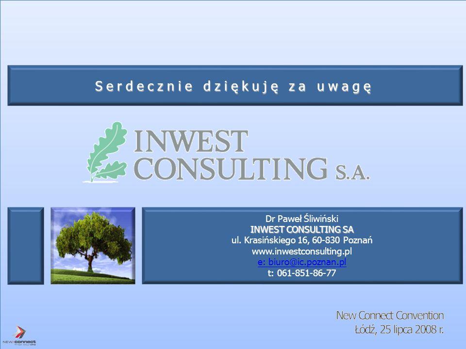 Dr Paweł Śliwiński INWEST CONSULTING SA ul. Krasińskiego 16, 60-830 Poznań www.inwestconsulting.pl e: biuro@ic.poznan.pl t: 061-851-86-77 Serdecznie d