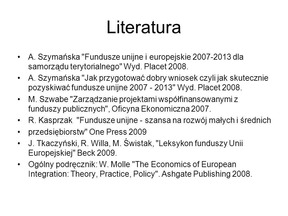 Literatura A. Szymańska