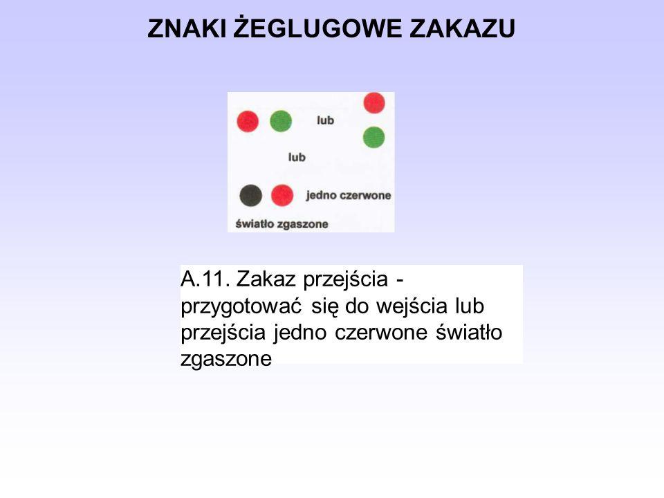 ZNAKI ŻEGLUGOWE NAKAZU B.7.Nakaz nadania sygnału dźwiękowego B.8.