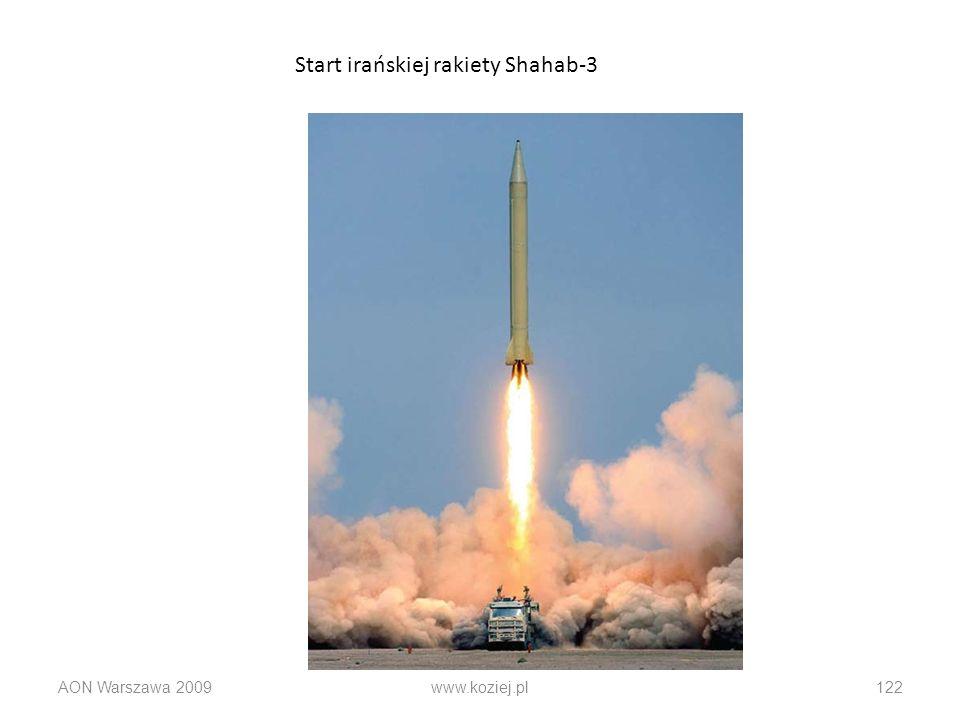 AON Warszawa 2009www.koziej.pl122 Start irańskiej rakiety Shahab-3