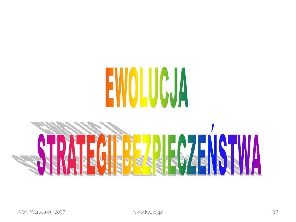 AON Warszawa 2009www.koziej.pl53