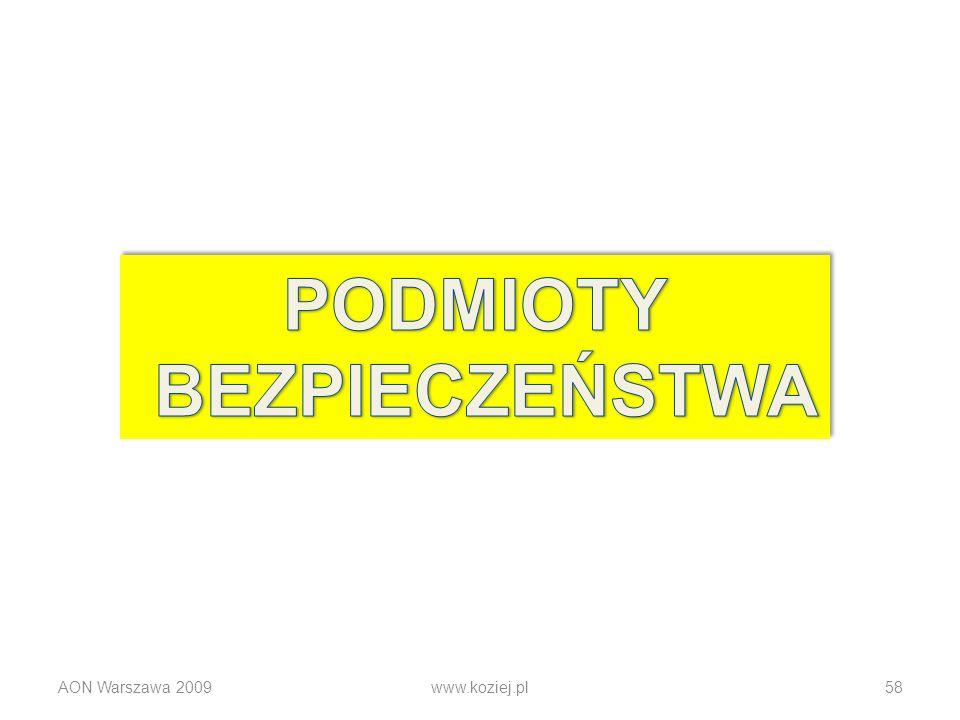 AON Warszawa 2009www.koziej.pl58
