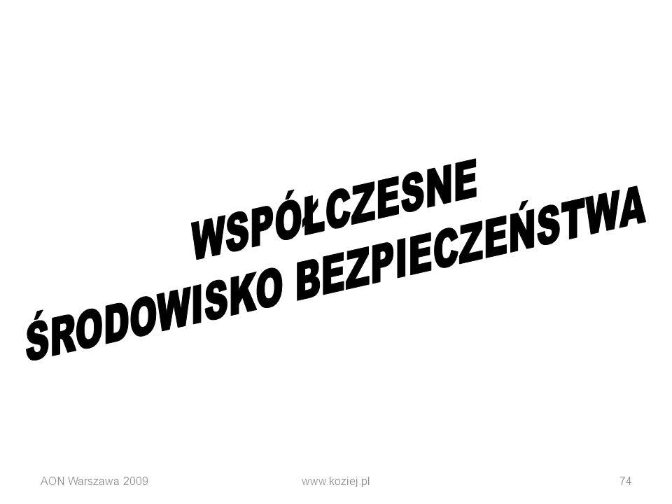 AON Warszawa 2009www.koziej.pl74