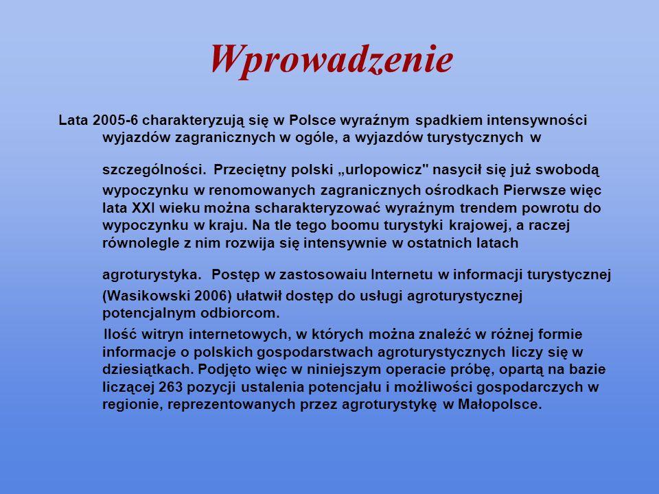 Wprowadzenie Lata 2005-6 charakteryzują się w Polsce wyraźnym spadkiem intensywności wyjazdów zagranicznych w ogóle, a wyjazdów turystycznych w szczeg