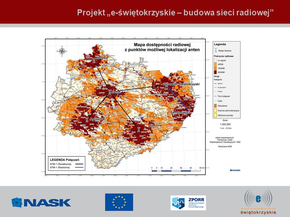 Projekt e-świętokrzyskie – budowa sieci radiowej