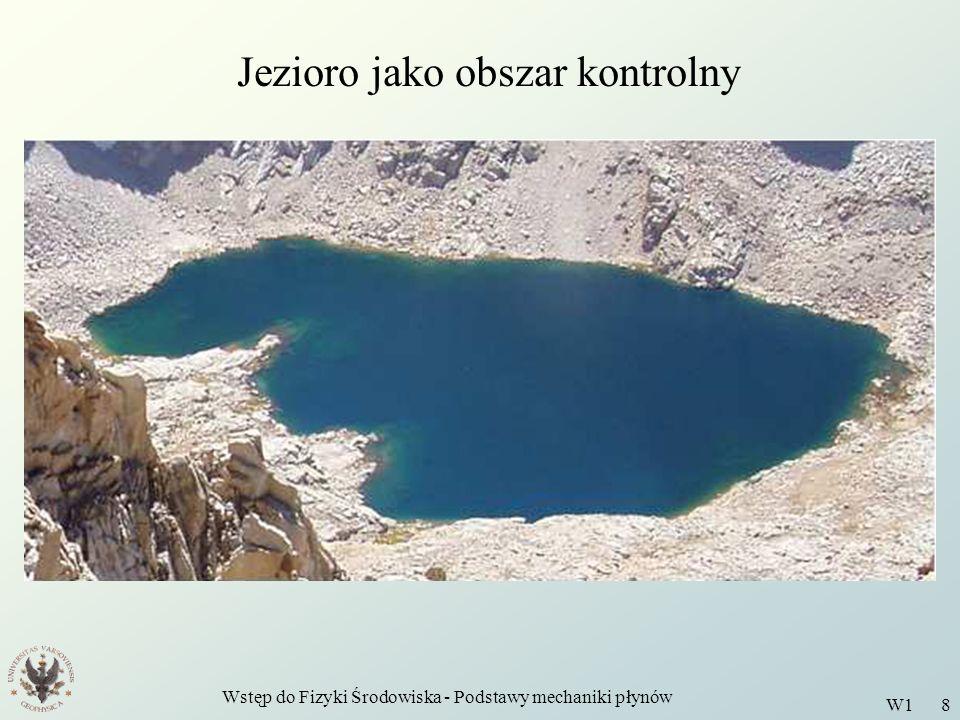 Wstęp do Fizyki Środowiska - Podstawy mechaniki płynów W1 8 Jezioro jako obszar kontrolny