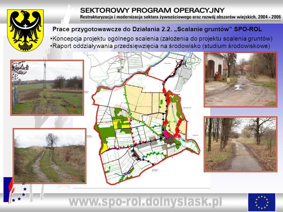Prace przygotowawcze do Działania 2.2. Scalanie gruntów SPO-ROL Koncepcja projektu ogólnego scalenia (założenia do projektu scalenia gruntów) Raport o