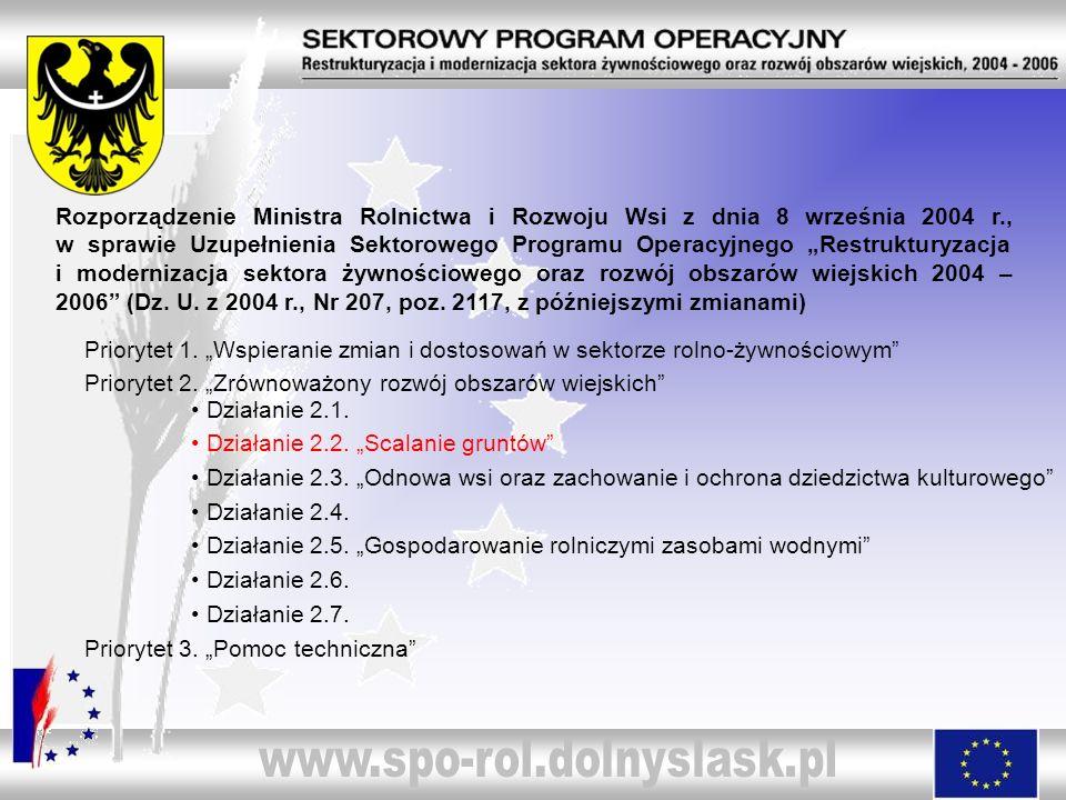 Rozporządzenie Ministra Rolnictwa i Rozwoju Wsi z dnia 8 września 2004 r., w sprawie Uzupełnienia Sektorowego Programu Operacyjnego Restrukturyzacja i