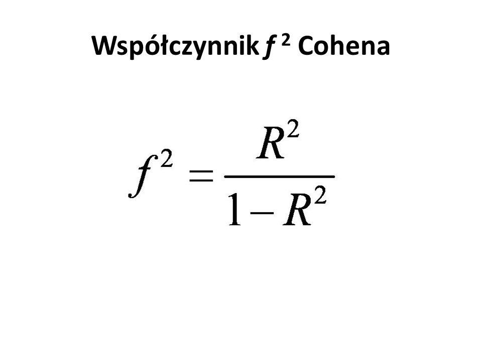 Współczynnik f 2 Cohena