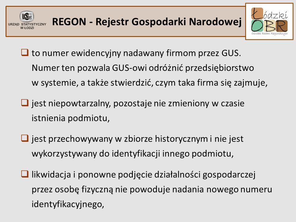 REGON - Rejestr Gospodarki Narodowej to numer ewidencyjny nadawany firmom przez GUS. Numer ten pozwala GUS-owi odróżnić przedsiębiorstwo w systemie, a