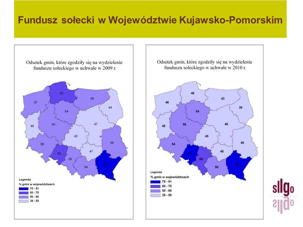 Fundusz sołecki – procedura w praktyce W latach 2009-2011 jedna kujawsko- pomorska gmina zdecydowała się zwiększyć kwotę funduszu sołeckiego.