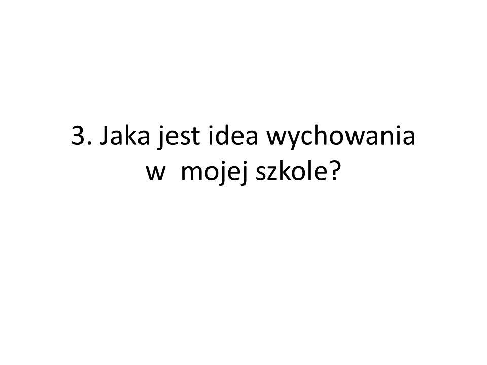 3. Jaka jest idea wychowania w mojej szkole?