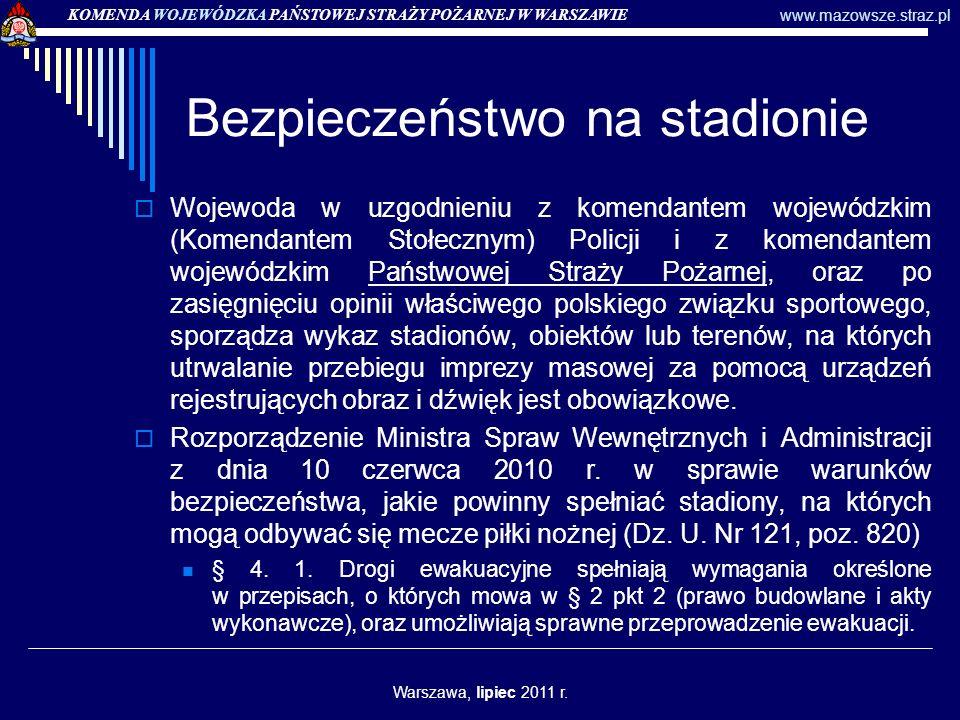 Bezpieczeństwo na stadionie § 4.2.