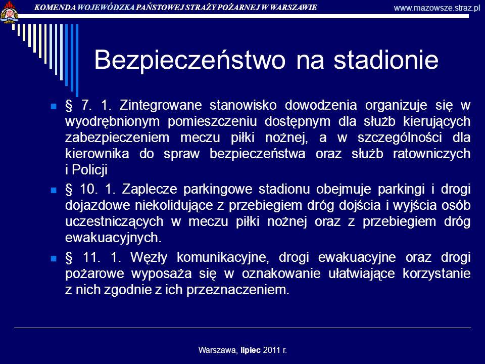 Zezwolenia na przeprowadzenie imprezy masowej – uprawnienia PSP KOMENDA WOJEWÓDZKA PAŃSTOWEJ STRAŻY POŻARNEJ W WARSZAWIE www.mazowsze.straz.pl Warszawa, lipiec 2011 r.