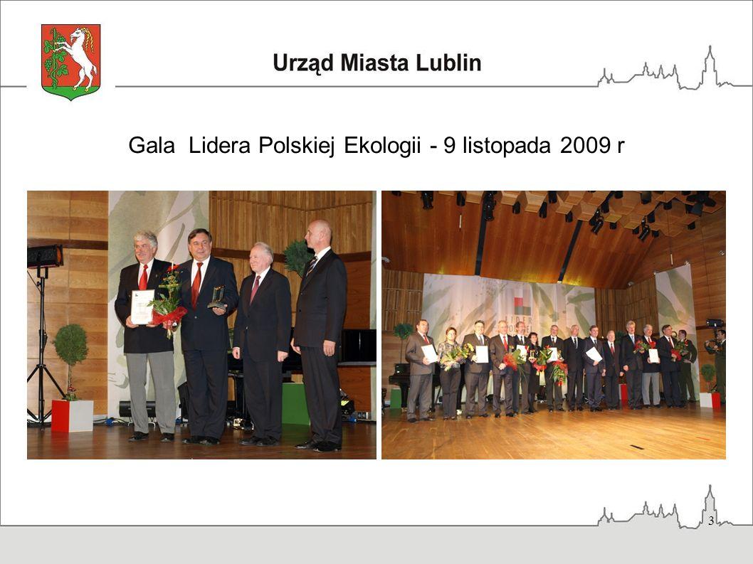3 Gala Lidera Polskiej Ekologii - 9 listopada 2009 r