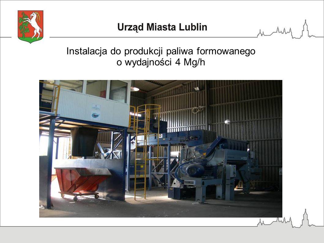 Instalacja do produkcji paliwa formowanego o wydajności 4 Mg/h