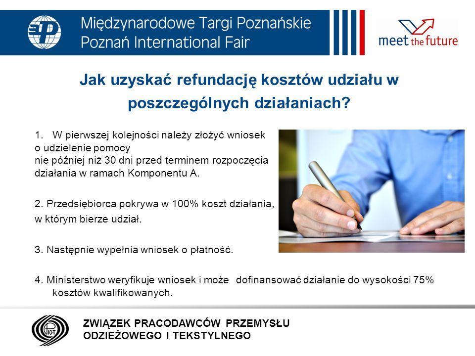 7.01.12 Jak uzyskać refundację kosztów udziału w poszczególnych działaniach.