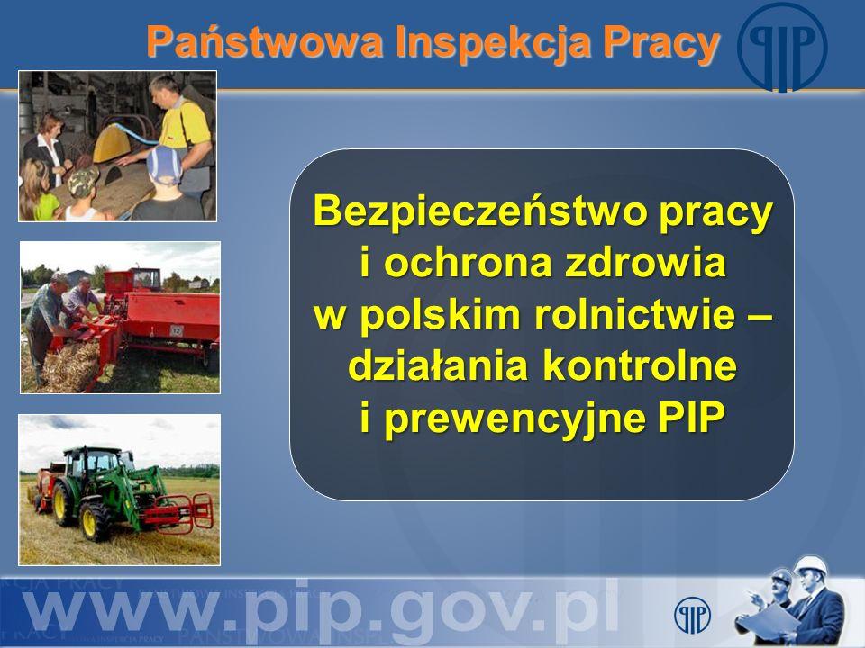 Państwowa Inspekcja Pracy Bezpieczeństwo pracy i ochrona zdrowia w polskim rolnictwie – działania kontrolne i prewencyjne PIP