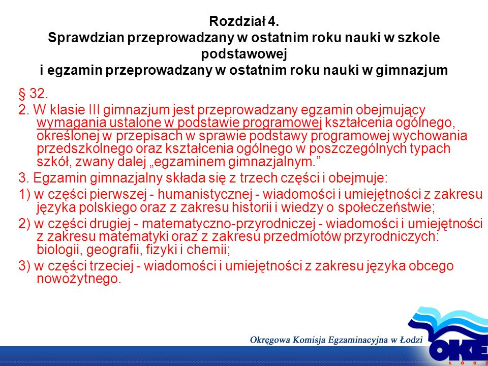 Konstrukcja arkuszy egzaminacyjnych Test z języka polskiego będzie wymagał rozwiązania zadań zamkniętych i otwartych, napisania wypracowania.