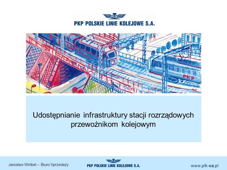 www.plk-sa.pl Udostępnianie infrastruktury stacji rozrządowych przewoźnikom kolejowym Jarosław Wróbel – Biuro Sprzedaży