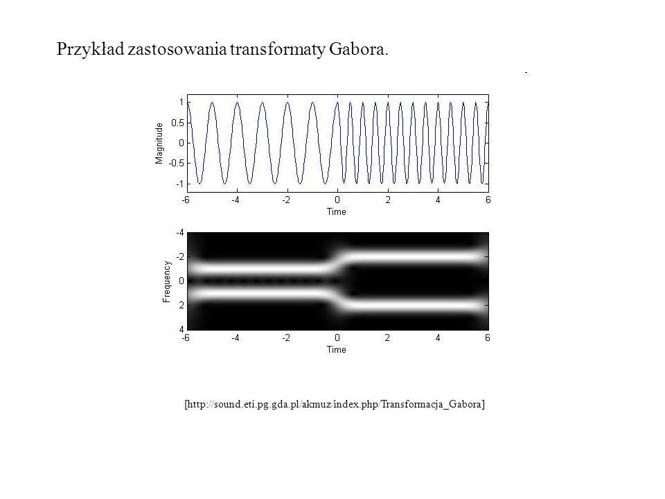 Przykład zastosowania transformaty Gabora. [http://sound.eti.pg.gda.pl/akmuz/index.php/Transformacja_Gabora]